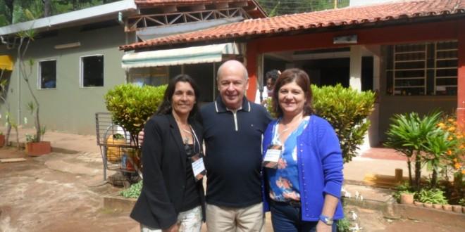 A secretária municipal de Cultura, Deborah Cardoso (à direita), ao lado do secretário de Estado de Cultura, Ângelo Oswaldo, e da coordenadora de Patrimônio, Clarice Pacheco