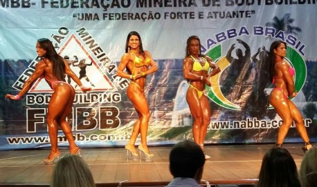 Andreia durante competição. Foto: Arquivo Pessoal