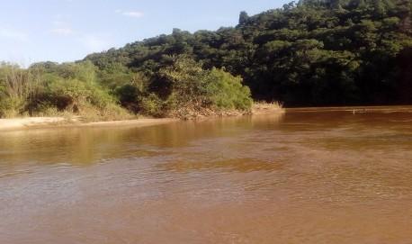 Local onde o tio das crianças desapareceu (Foto: Elcio Simas - Bombeiros de Lavras)