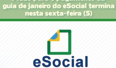Prazo para o pagamento da guia de janeiro do eSocial termina nesta sexta-feira (5) Receita Federal