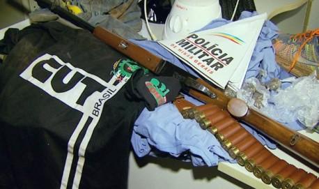 Polícia recupera armas e objetos levados de fazendas no Sul de Minas (Foto: Reprodução EPTV)