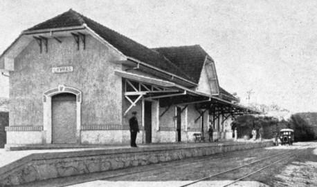 Foto antiga da Estação Costa Pinto ( Imagem Ilustrativa)