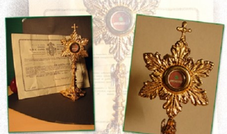 Relíquia do santo ficará na cidade até o dia 18.