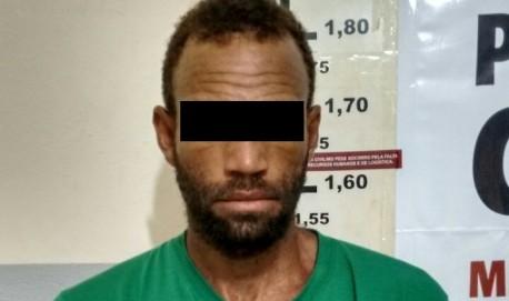 Um dos suspeitos preso pela polícia (crédito Polícia Civil)