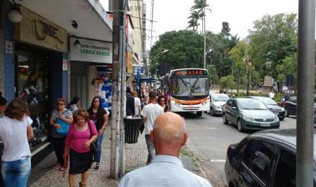 Crimes trouxeram insegurança para comerciantes da rua Francisco Sales essa semana.