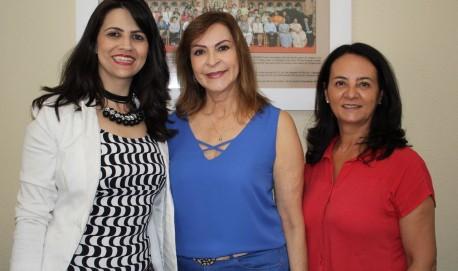 Vereadora de Juruaia Dedel Gonçalves, Dep. Dâmina e vereadora de Lavras Naná Ferreira (Fotos: Assessoria Parlamentar Dep. Dâmina Pereira)