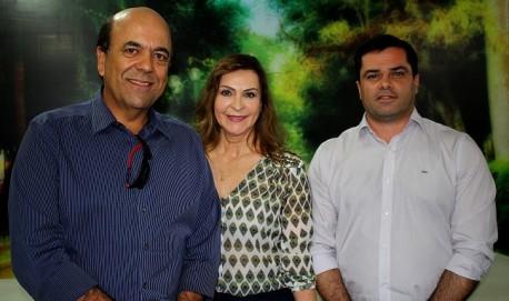Carlos Alberto Pereira presidente estadual do PSL, Dep. Dâmina e Prefeito Dr José Cherem
