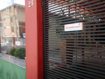 Bar no centro de Lavras foi interditado pelos Bombeiros. Fotos: Divulgação Corpo de Bombeiros