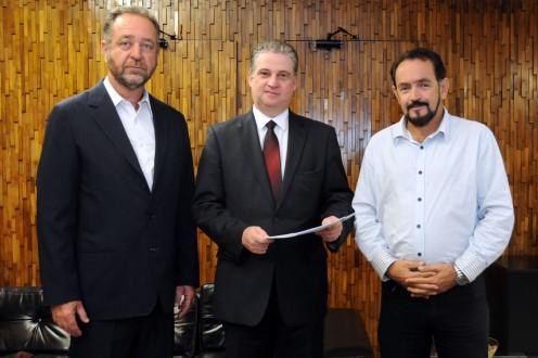 Visita de vereadores de Lavras ao presidente da ALMG