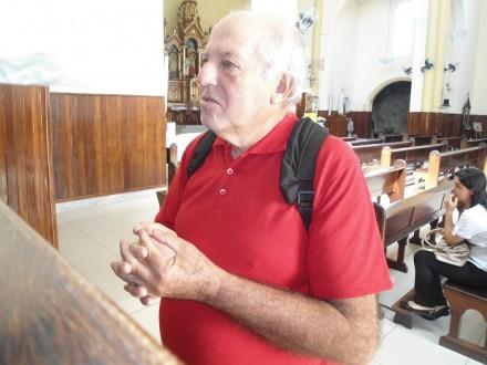 Antonio Pereira, 69 anos: anadar pelas estradas do país.