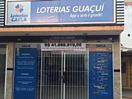 Lotérica Guaçuí, de onde saiu uma das apostas vencedoras da Mega da Virada (Foto: Divulgação)